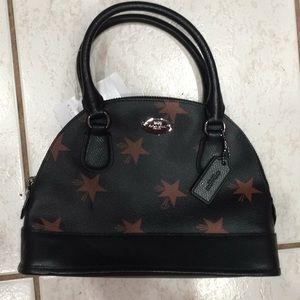 Coach star printed satchel